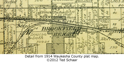 Brookfield plat map detail.