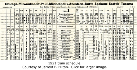 Brookfield on train schedule.