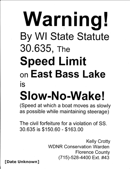 Bass slow-no-wake 8