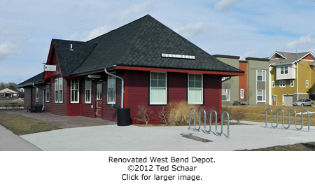 West Bend train depot.